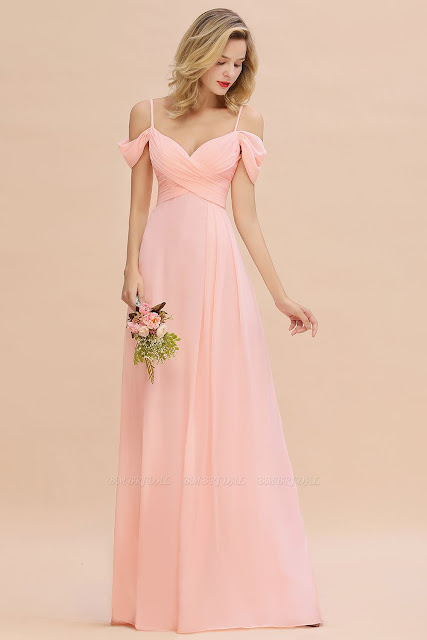Fantasy Spaghetti Straps Sweetheart Ruffles Bridesmaid Dress