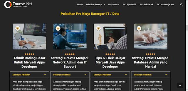 paket pelatihan prakerja course net