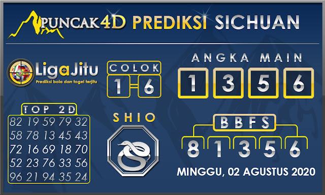 PREDIKSI TOGEL SICHUAN PUNCAK4D 02 AGUSTUS 2020