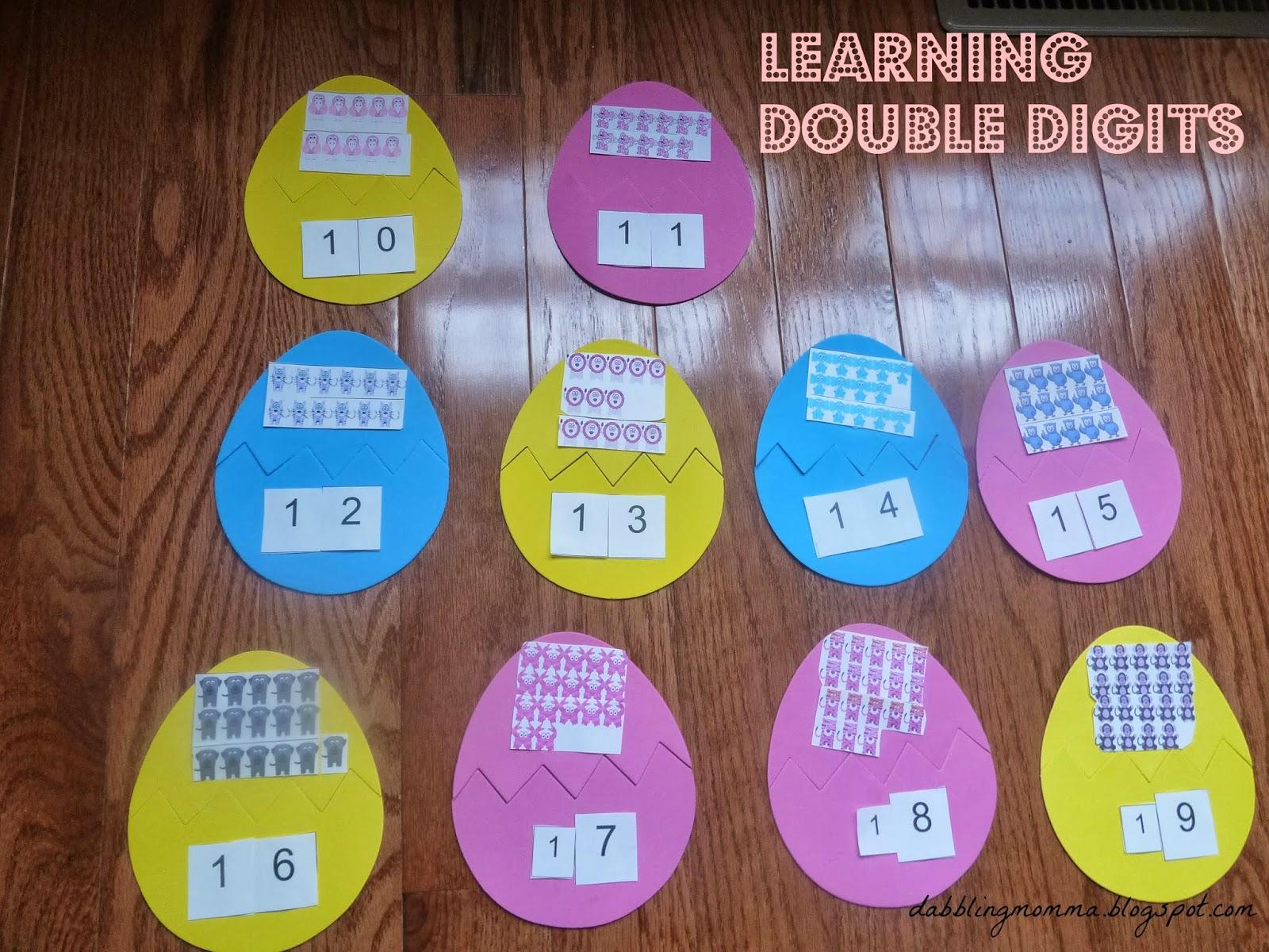 Dabblingmomma Learning Double Digits