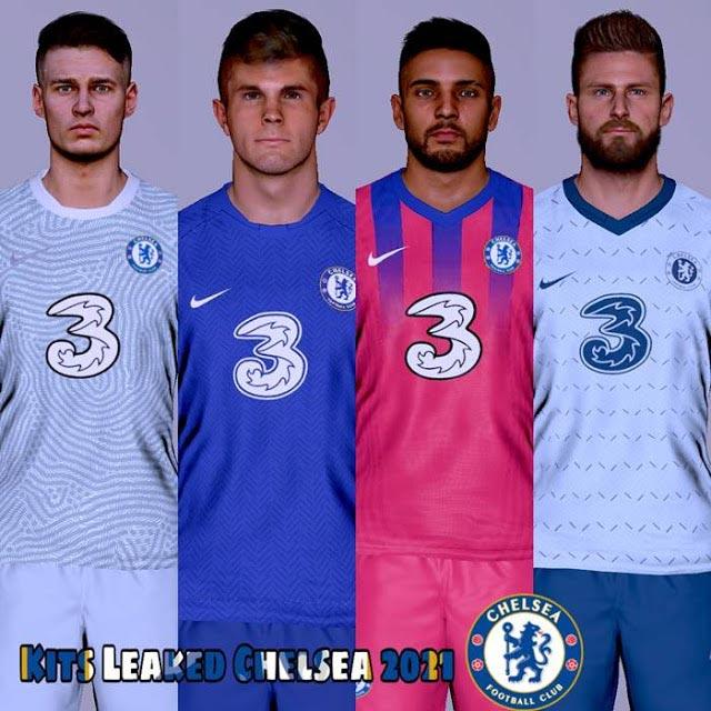 Chelsea Leaked Kits Season 2020-2021 For PES 2017