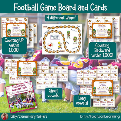 https://www.teacherspayteachers.com/Product/Football-Phonics-and-Counting-326949?utm_source=Elementary%20Matters%20Blog&utm_campaign=Four%20Football%20Games