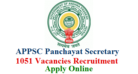 Andhra Pradesh Panchayat Secretary Recruitment Notification 2018 is finally out. APPSC Released Recruitment Notification for 1051 Vacancies in Panchayat Raj Department Panchayat Secretary Posts Get Complete Details Detailed Notification Educational Qualifications Scheduled Dates Online Application Form Downloading Hall Tickets Exam Dates How to Submit Application Andhra Pradesh public service commission has finally announced Recruitment notification for APPSC Group 3 Notification 2018 i.e Panchayat secretary (grade – iv) in a.p. ... Applications are invited through Online for recruitment to the post of Panchayat Secretary APPSC Group- 3 Jobs Application form. APPSC Group III Recruitment 2018 Notification Out- 1670 Panchayat Secretary & Junior Assistant Jobs. ... AP Panchayat Raj and Rural Development Recruitment 2018 Notification for Panchayat Secretary Posts Form Applications   are   invited   online   for   recruitment   to   the   post   of   Panchayat Secretary (Grade-IV) in A.P. Panchayat Raj Subordinate Service for a total of 51 CF  and  1000  Fresh  vacancies  in  the  scale  of  pay  of  Rs.16,400  –  49,870  from candidates within the age group of 18 to 42 years as on 01.07.2018. appsc-panchayat-secretary-1051-vacancies-recruitment-notification-vacancies-online-application-form-psc.ap.gov.in-download