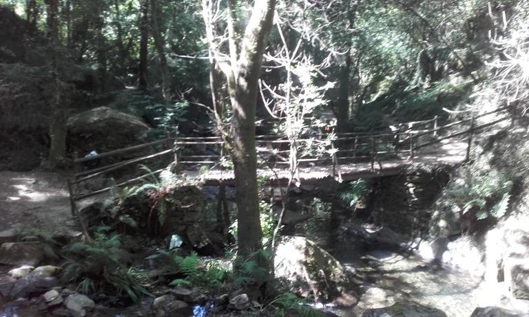 Ponte pedonal da Praia fluvial da cabreira