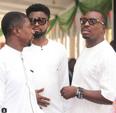 ali baba and basketmouth at comedian bovi mother burial