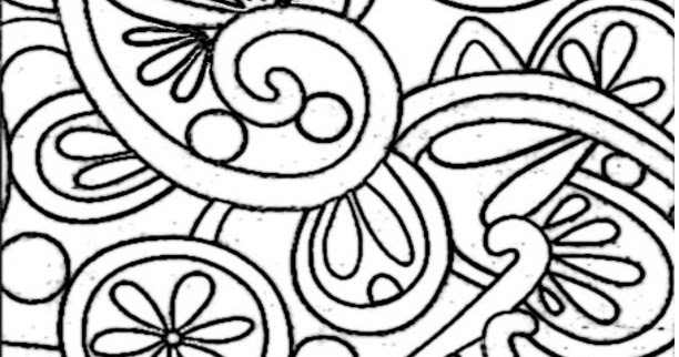 Coloring Page World: Flowery Pattern (Portrait)