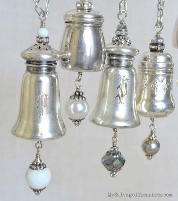 sterling silver pepper shaker repurposed necklaces