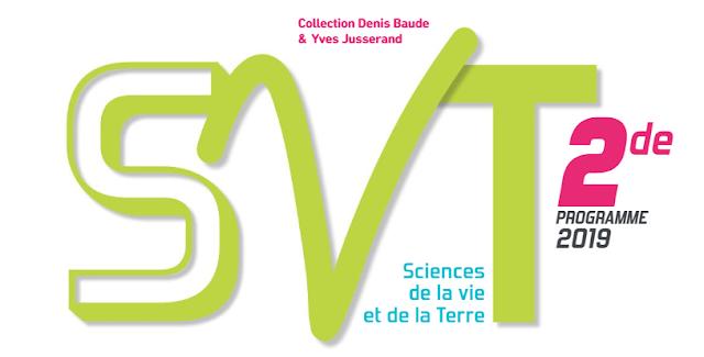 حصريا تحميل كتاب جديد للاستاد والتلميد في مادة علوم الحياة والارض نسخة 2019  باللغة الفرنسية