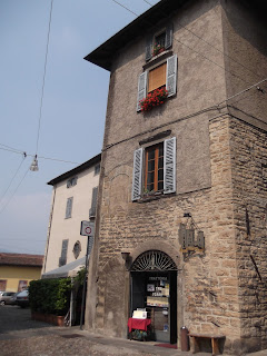Trattoria Tre Torri is housed inside a medieval tower