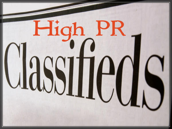High PR Classifieds 600x450