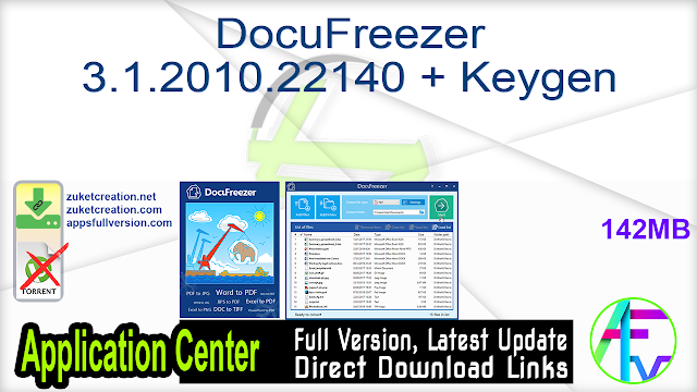 DocuFreezer 3.1.2010.22140 + Keygen