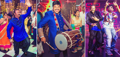 Mohan Babu dancing to the beats of the dhol