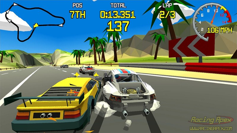 Indie Retro News: Racing Apex - Could this be the next Virtua Racing ...