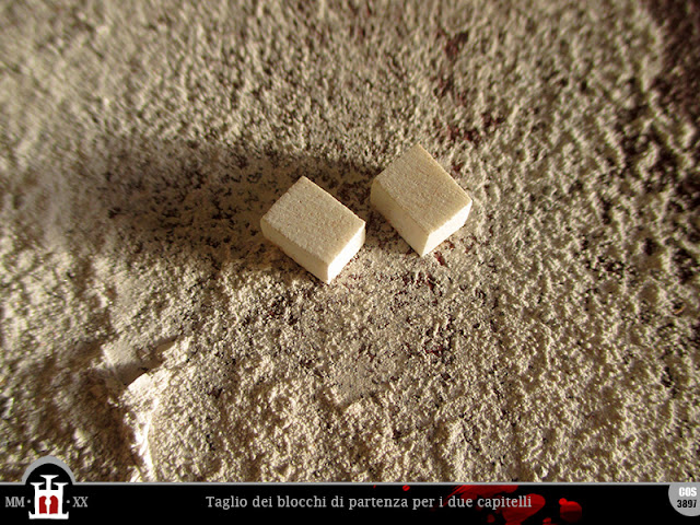 Blocchi di pietra artificiale per la realizzazione dei capitelli