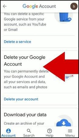 delete-your-google-account-ko-click-kare