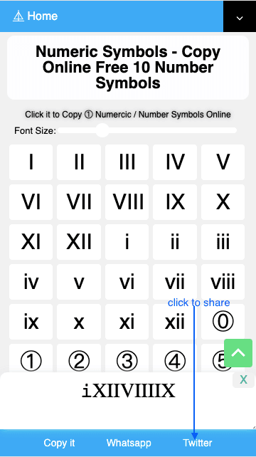 How to Share ㈢ Number Symbols On Twitter?