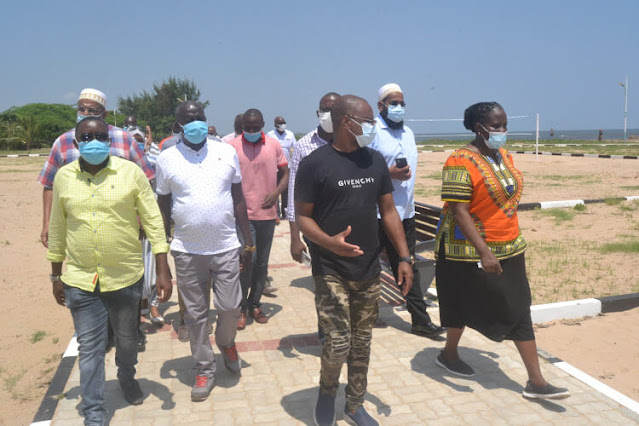 Malindi Town Ward MCA David Kadenge with Governor Amason Kingi