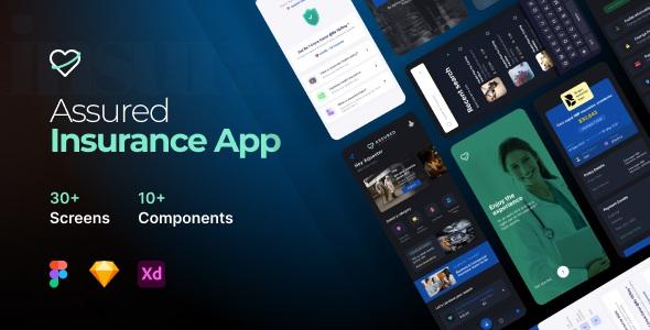 Best 30 Insurance Mobile App UI Kit Template