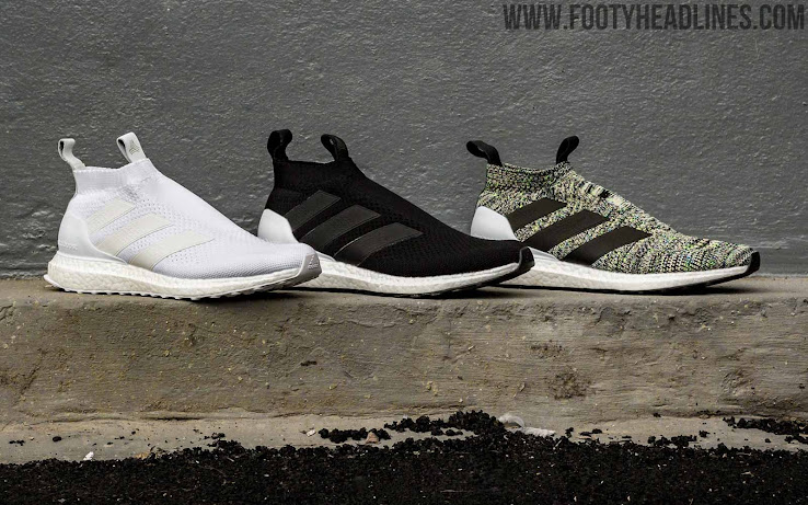 e58ea3331e63b Adidas Ace 16+ Ultra Boost - Off White   Core Black   Solar Yellow