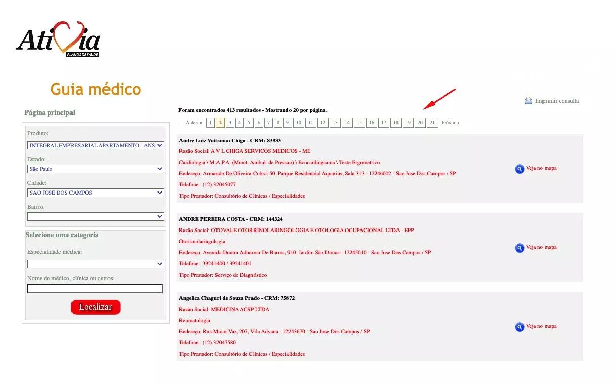 Consultar rede credenciada Atívia São José dos Campos