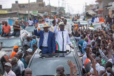 Raila Odinga in Kajiado. PHOTO | FILE