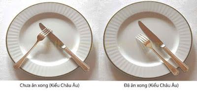 Hình ảnh khi setup dao muỗng nĩa inox
