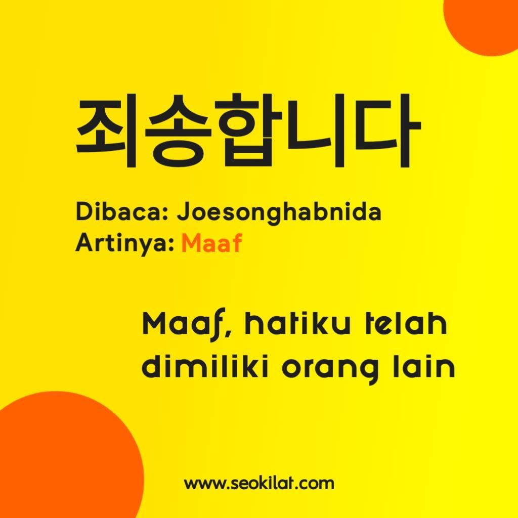 Bahasa Korea maaf