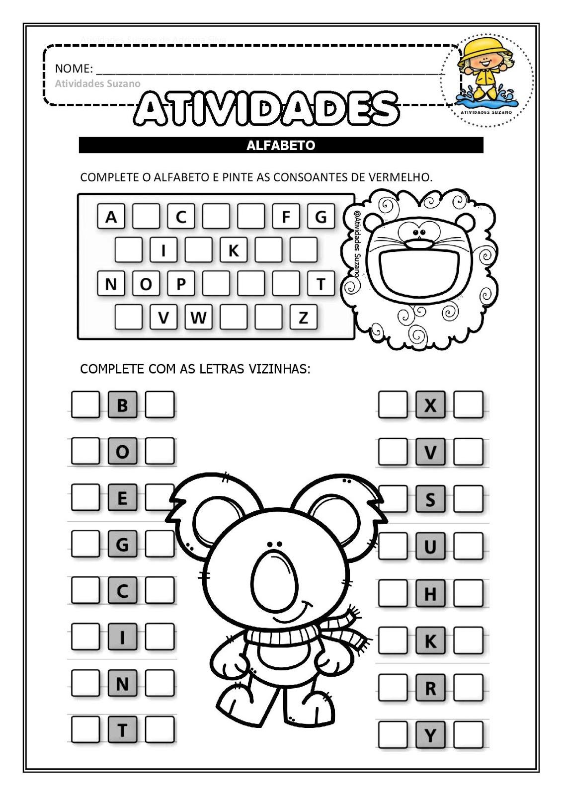 alfabetiza o alfabeto letra inicial dos desenhos e consoantes em pdf atividades iniciais. Black Bedroom Furniture Sets. Home Design Ideas