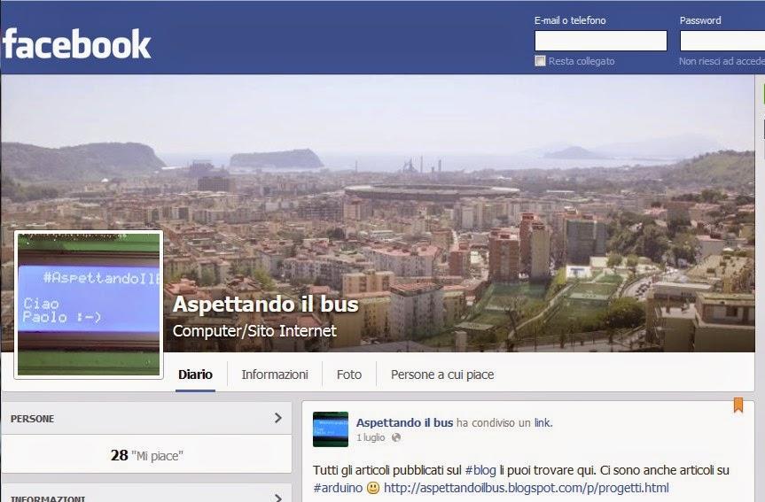 La pagina facebook di Aspettandoilbus