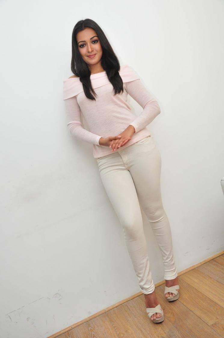 Glamorous Catherine Tresa Latest Photos In White Dress