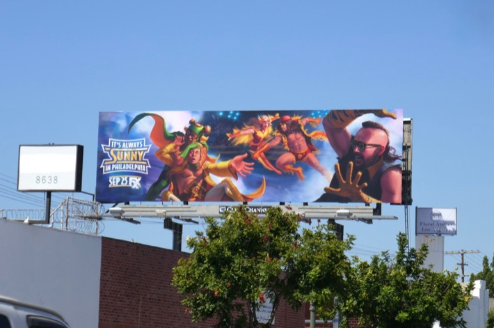 Always Sunny in Philadelphia season 14 billboard