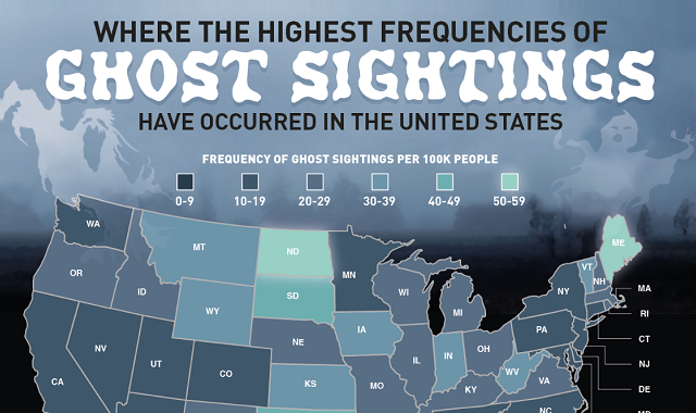Where the Most Ghost Sightings Are in America