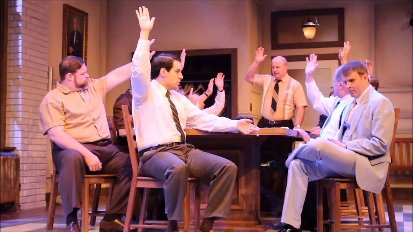 A. D. Players Theater Presents 12 Angry Men wallpapers colour