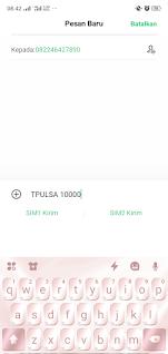 cara mudah transfer pulsa Telkomsel melalui SMS
