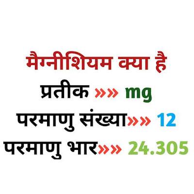 मैग्नीशियम क्या है (Magnesium in hindi)