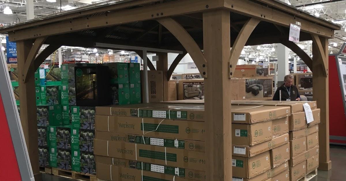 12 X14 Metal Shelters : Yardistry  cedar wood gazebo with aluminum roof