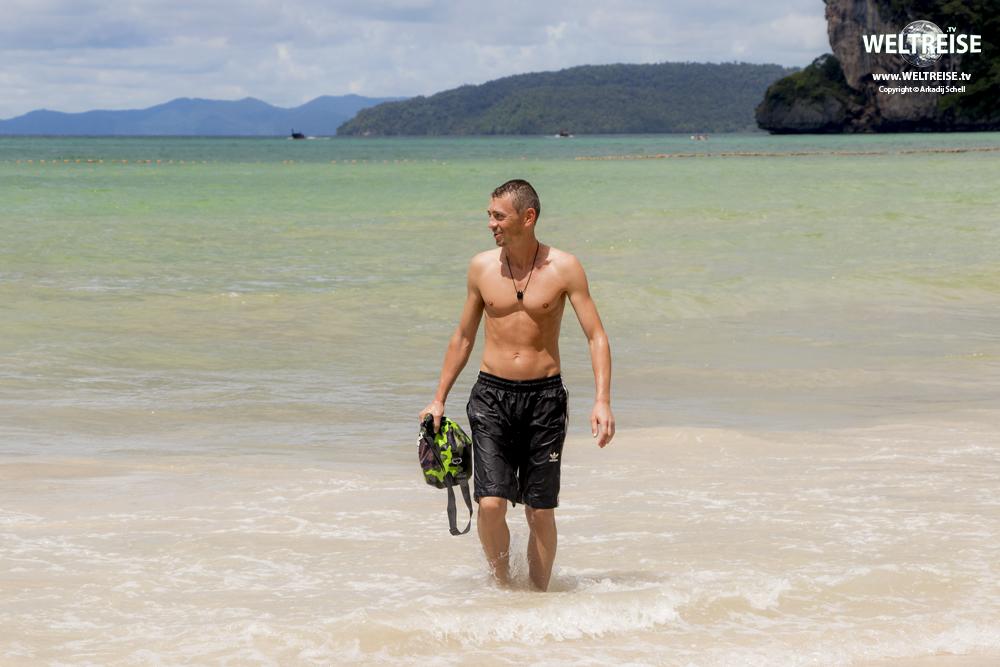Bremerhavener Musiker Arkadij schell auf weltreise in Thailand Railay Beach, Krabi, Thailand