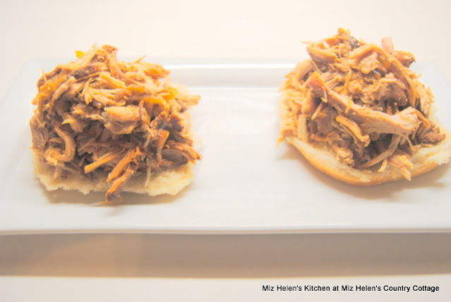 Slow Cooker Southern Pulled Bar-B-Q Chicken at Miz Helen's Country Cottage