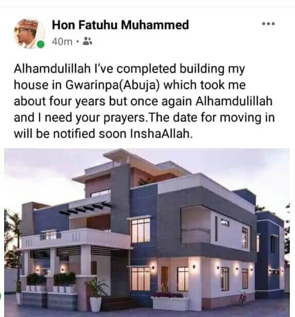 President Buhari's nephew shows off his newly completed mansion in Abuja(Photos)