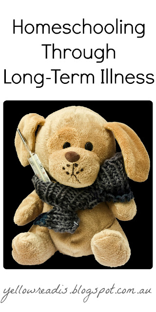 Teddy with scarf and thermometer