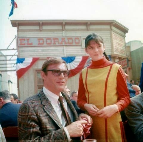 Angela Cartwright and Adam West during Lost in Space randommusings.filminspector.com