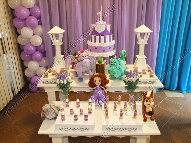 decoracao de festa infantil princesa sofia -> Decoração De Aniversário Princesa Sofia