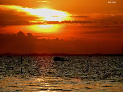 Belissimo Por do Sol na Lagoa dos Patos