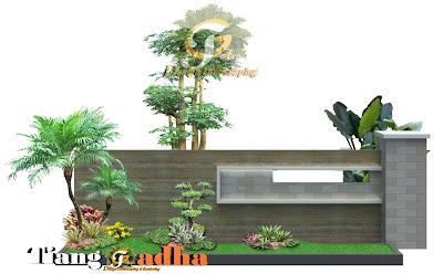 contoh desain taman depan rumah