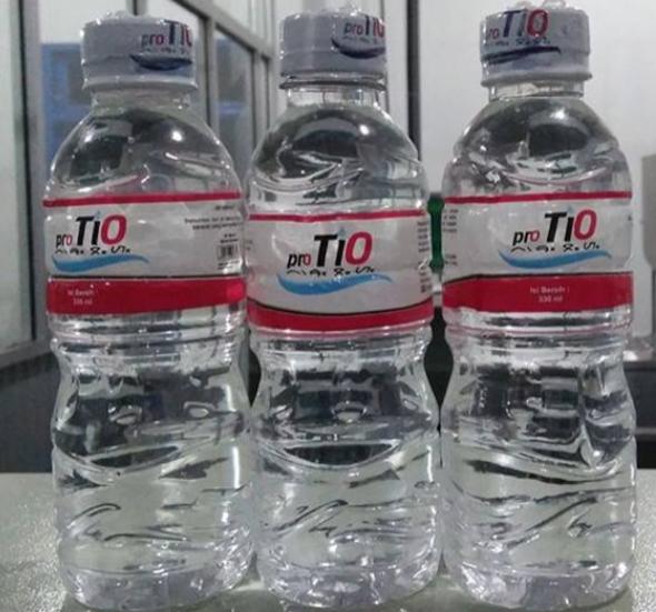 Air minum dalam kemasan pro TIO siap diluncurkan.