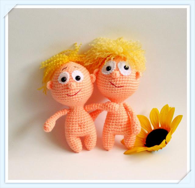 -Handicraft -amigurumi -heegeldatud -pehme -manguasi -poiss -nukk -pink -pupsik