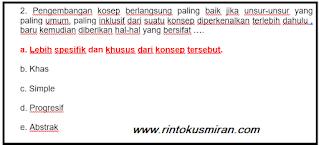 SOAL PPPK PGSD TERBARU BAGIAN 2