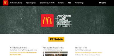 Dah boleh baca kisah-kisah inspirasi yang dicalonkan untuk Anugerah Guru McDonalds 2019 tahun ini