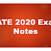 GATE Exam Notes