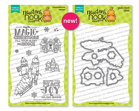 Holiday Home | Christmas Stamp and Die Set by Newton's Nook Designs